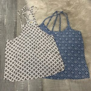 2 Hollister Geometric Print Tank Tops